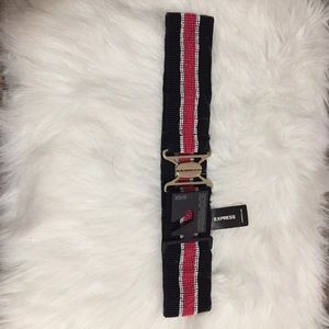 NWT Black and pink beaded belt